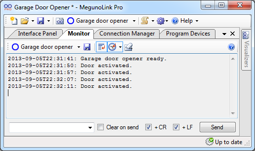 MegunoLink Pro access log with timestamp.