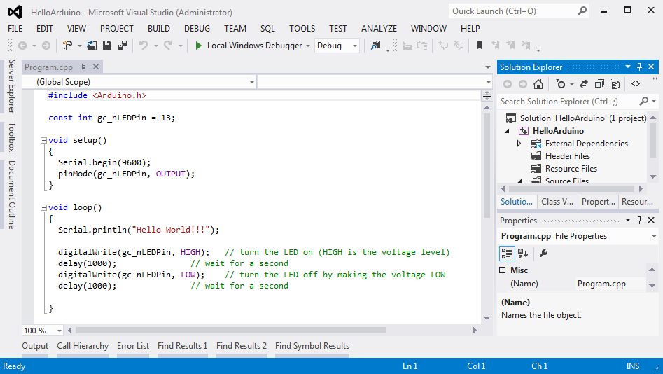 ProjectInVisualStudio