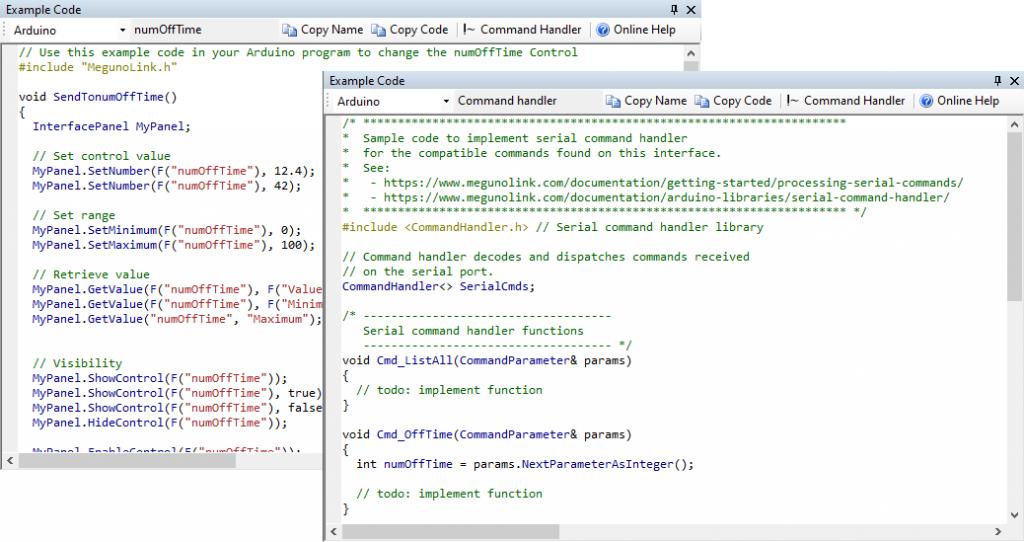 Code Example Window