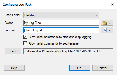 Configure Log Path