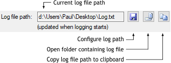 Log file path UI
