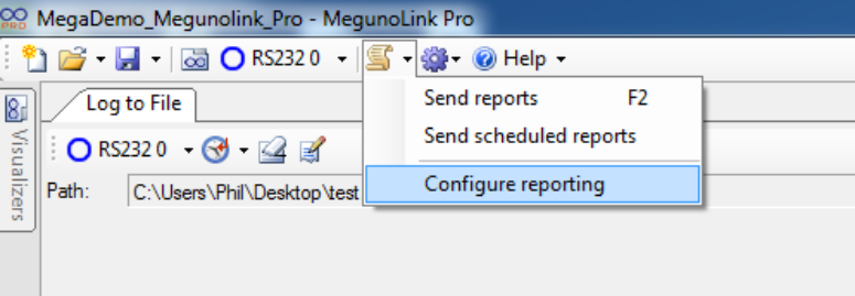 Configure Reporting