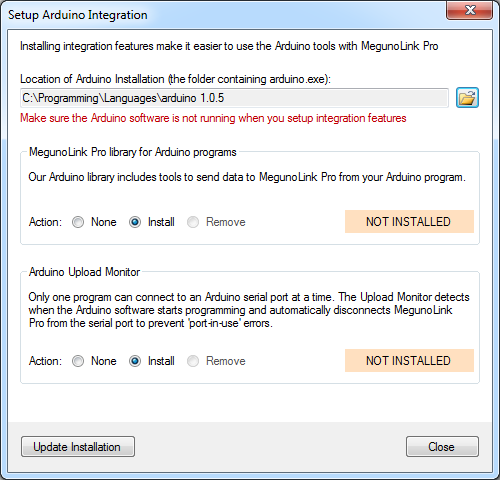Megunolink arduino library documentation