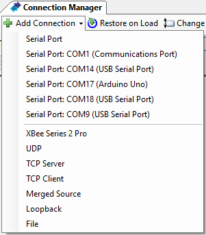 Add a serial connection