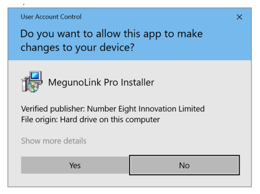 Allow the installer to make changes