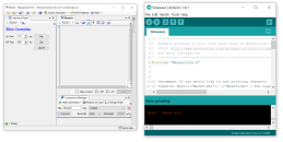 MegunoLink interface beside arduino IDE