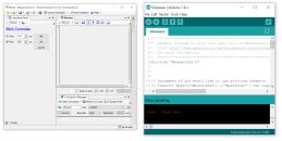 MegunoLink interface beside arduino IDE