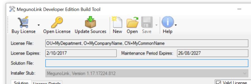 3-builder-screen-showing-license-details | MegunoLink