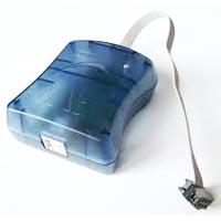 Atmel's AVRISP Mk II Serial programmer