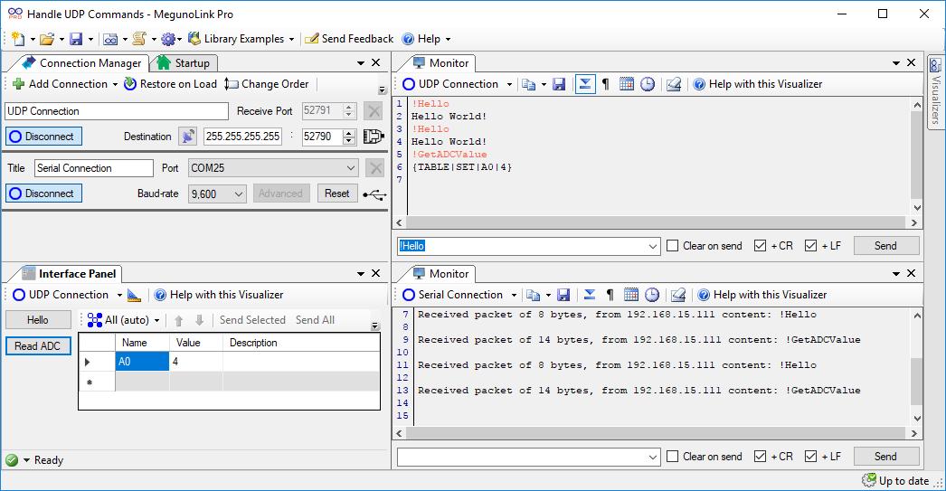 Handling UDP commands