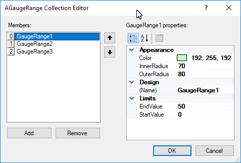 gauge range collection editor