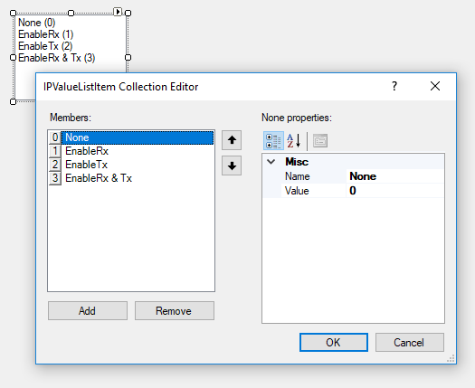 Value list collection editor