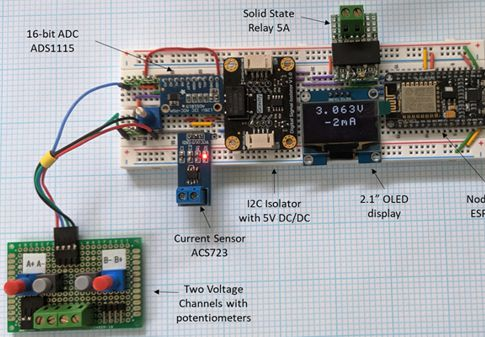 Photo of Arduino VA Meter Prototype