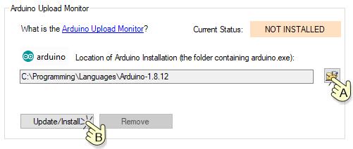 Install upload monitor