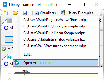 Open Arduino code file.