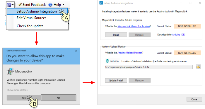 Open Arduino integration tool
