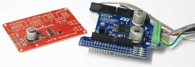 X-NUCLEO-IHM03A1 and AutoDriver boards