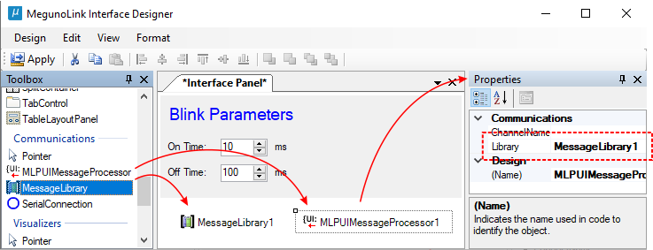 Set up steps for interface panel components