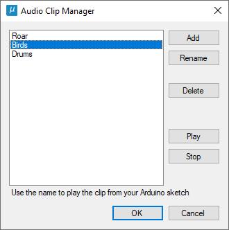 Audio clip manager