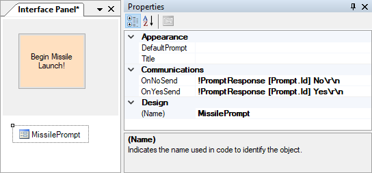 Prompt example interface panel