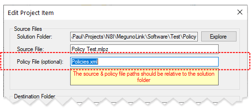 Set policy file in builder