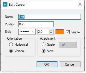 Edit plot cursor