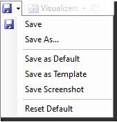 Save project menu